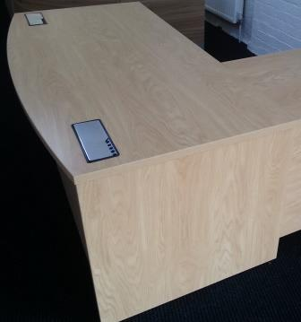 Endurance executive panel ended rectangular bow fronted desk