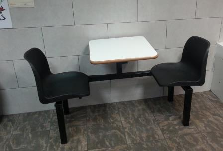 Fixed seating fast food table (CU10)