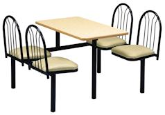 Fixed seating fast food table (CU12)
