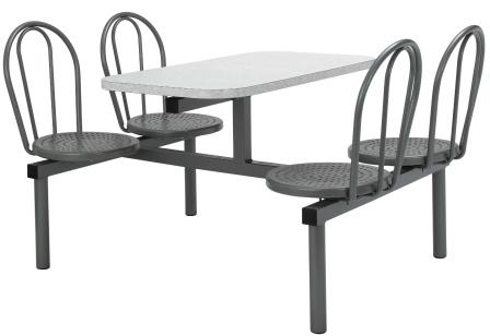 Fixed seating fast food table (CU14)