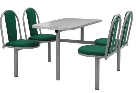 Fixed seating fast food table (CU16)