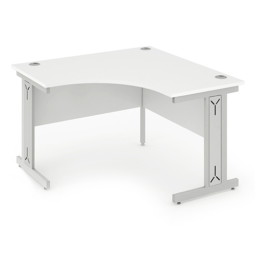 Intrigue compact cable managed cantilever frame call centre radial desk
