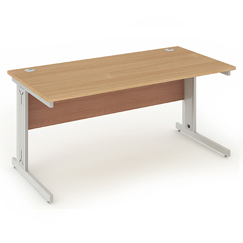 Contract cable managed cantilever frame rectangular desk