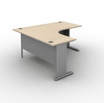 Contrax2 panel end radial desk