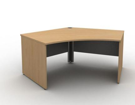 Contrax2 panel end 120 degree delta desk