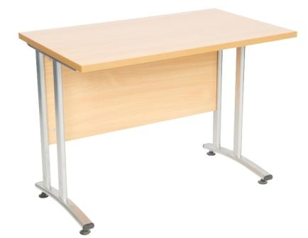 Endurance cantilever frame rectangular desk