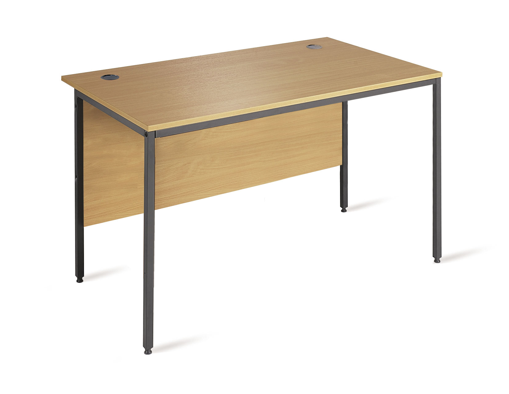 Entry level H frame rectangular straight desk with modesty panel