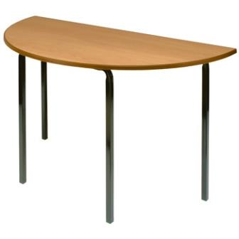 Classic semi-circular classroom table with crush bent frame