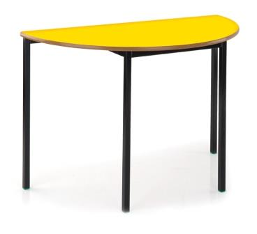 Classic semi-circular classroom table with fully welded frame
