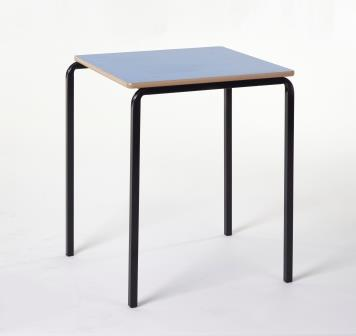 Classic square stacking classroom table with crush bent frame