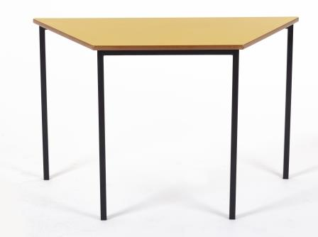 Classic trapezoidal classroom table with fully welded frame