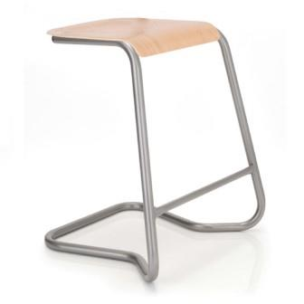 Contract cantilever stacking stool with plywood seat
