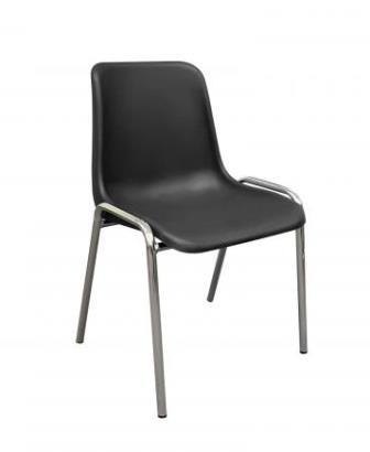 Endurance poly stacking chair. Black