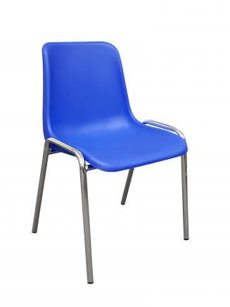 Endurance poly stacking chair. Blue