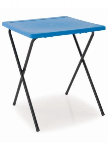 Folding lightweight exam desk with plastic top