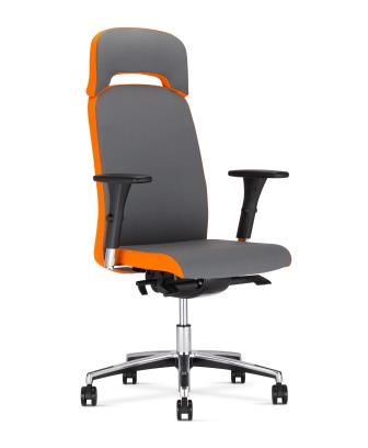 Belive fabric swivel executive chair with integral headrest
