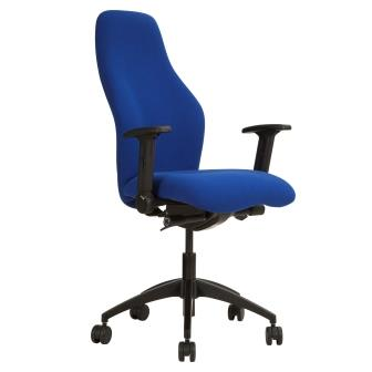 Cambs extra high back task executive chair with height adjustable folding arms