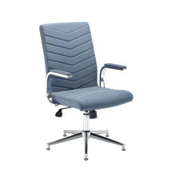 Martinez managerial chair with chrome padded arms