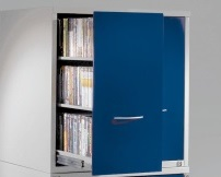DVD/VHS metal storage top cabinet with drawers