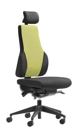 Apex Posture high back task chair with headrest and no armrests