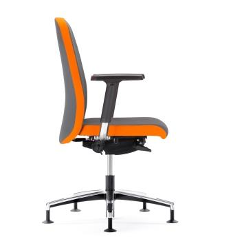 Belive fabric swivel conference chair on soft floor glides