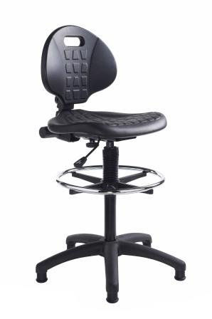 Industrial extended operator chair with footring