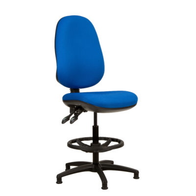 Kadeby 2-lever extra high back jumbo seat draughtsmans chair with wide seat and backrest