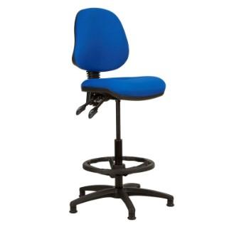Kadeby 2-lever medium back draughtsmans chair (Standard seat width)