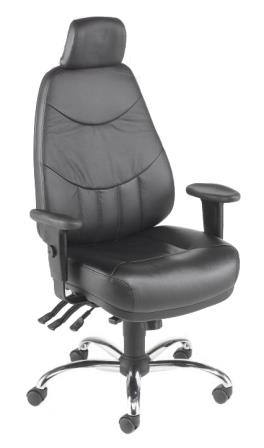 Mercury high back 24 hour bonded leather armchair with headrest