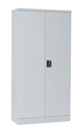 Alpha steel economy double door cupboard. 381mm deep. 1829mm high