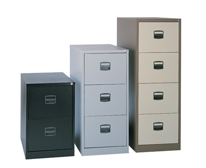 Entry level steel filing cabinets