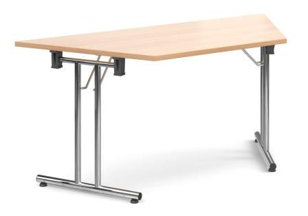Entry level trapezoidal folding legged table