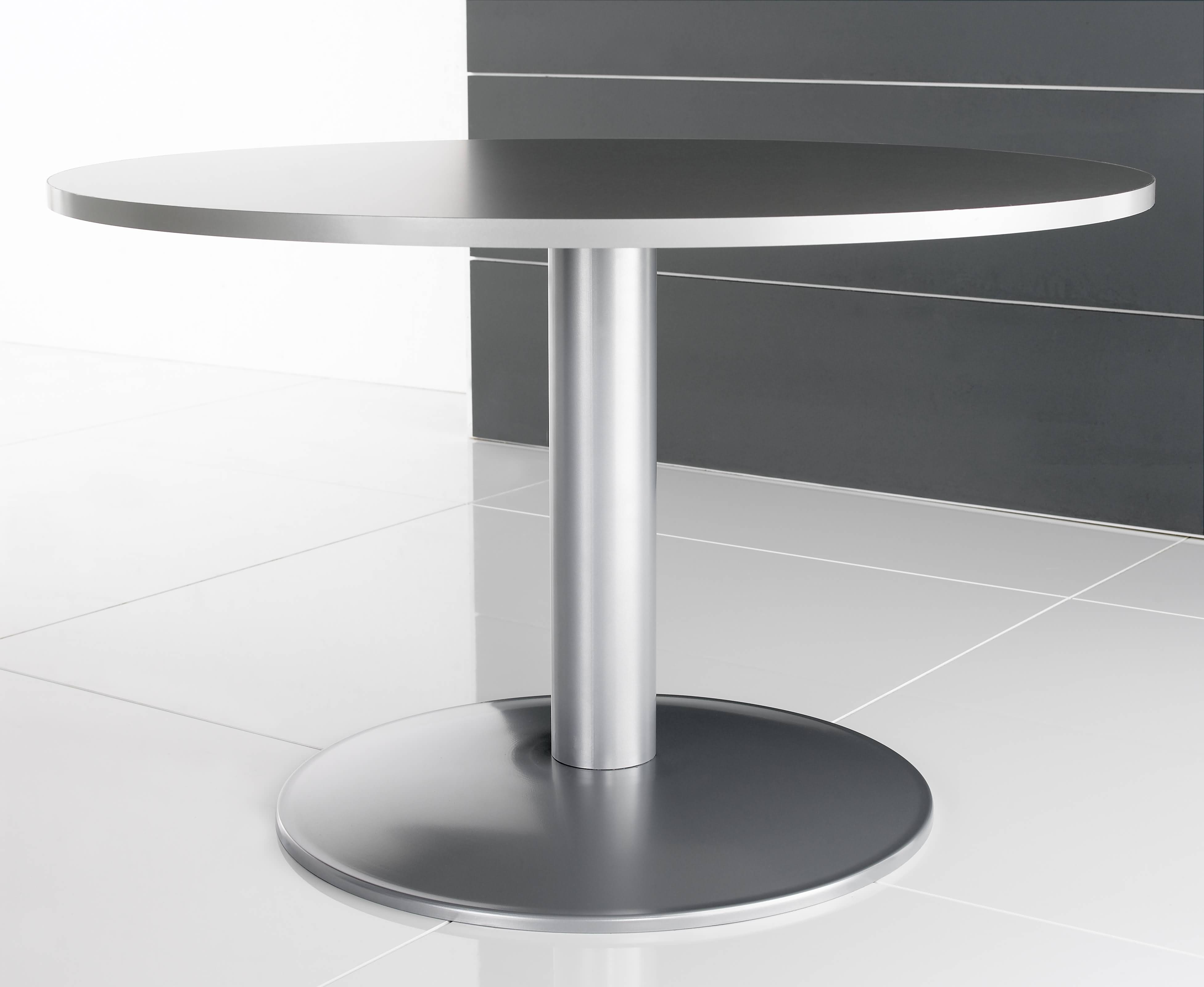 HK stainless steel trumpet base low height tables