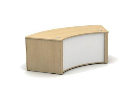 Mobili 60 degree low inner curved reception counter