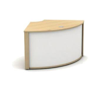 Mobili 90 degree compact low reception counter