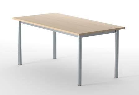 Optima shallow depth rectangular tubular legged tables