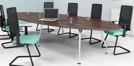 Spire oval boardroom table