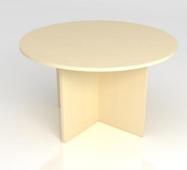 ST Optima circular meeting table on panel leg base