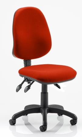 Elan Plus 3 operator chair with 3-lever mechanism in bespoke pimento fabric