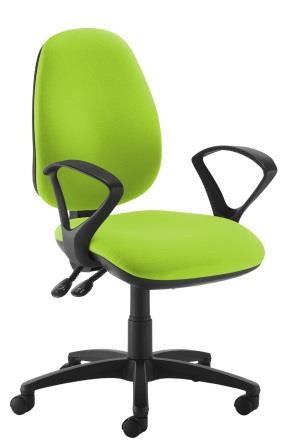 Jupiter 2-lever operator chair with fixed loop arms