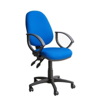 Kadeby 2-lever high back operator chair (Standard seat width) with fixed loop arms