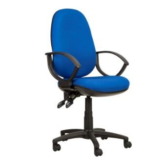 Kadeby 2-lever extra high back jumbo operator chair with fixed loop arms