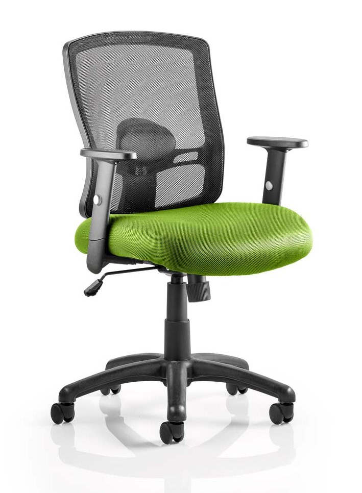 Pont mesh back task operator chair with bespoke madura fabric seat