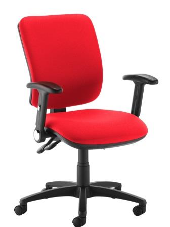 Stance 2-lever task chair with height adjustable and folding arms