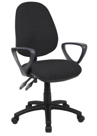 Vantage 2-lever operator chair with fixed loop arms