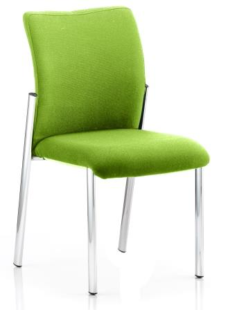 Arcadia 4-leg fully upholstered stacking chair without arms in bespoke madura fabric