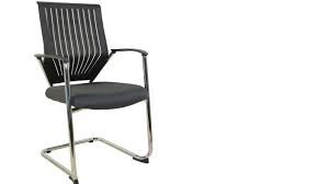 CVC Cantilever frame visitor meeting chair with plastic backrest