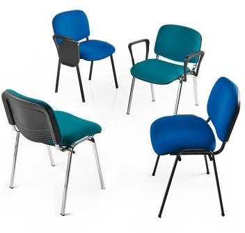 Eclat 4-leg visitor meeting stacking chairs