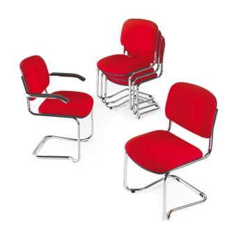 Eclat chrome cantilever frame stacking visitor meeting chair