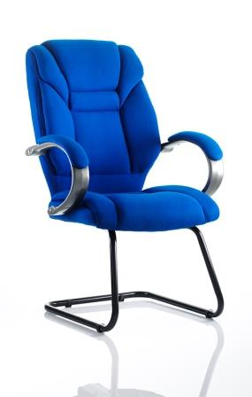 Garvi cantilever frame blue fabric meeting chair